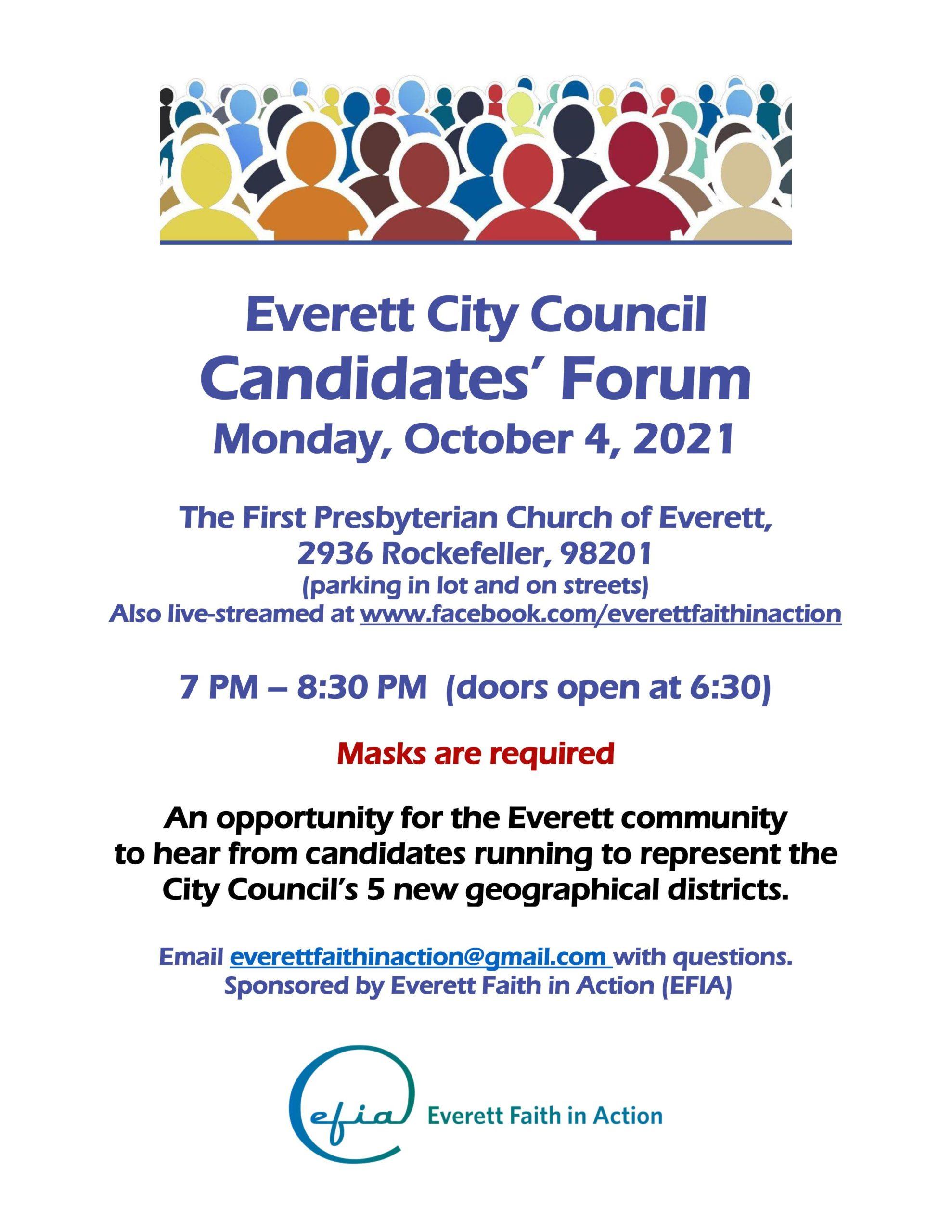 Everett City Council Candidates' Forum